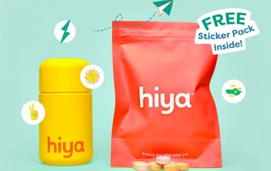 hiya refill bottle and bag of vitamins rating