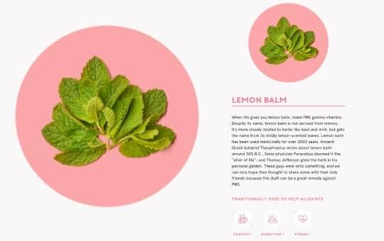 lemon balm ingredients in flo gummies