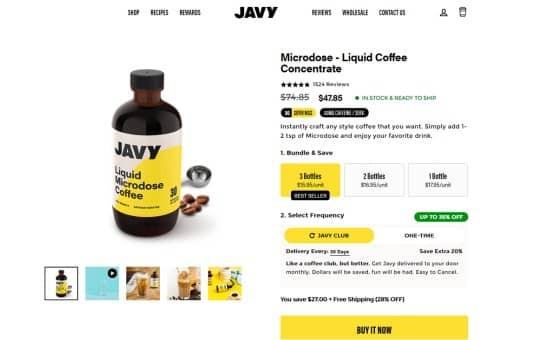 javy club membership cost