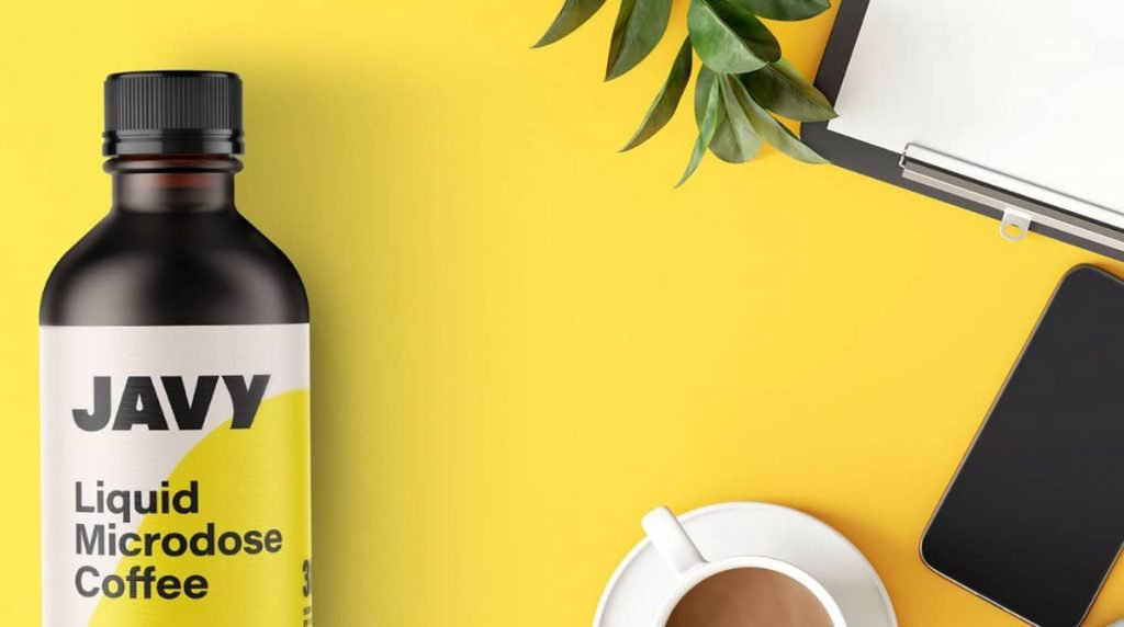 javy coffee liquid microdose coffee on table