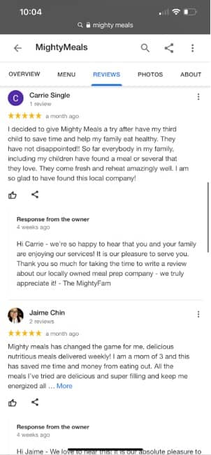 mighty meals google reviews (2)