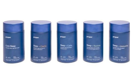 proper's line of sleep product supplements