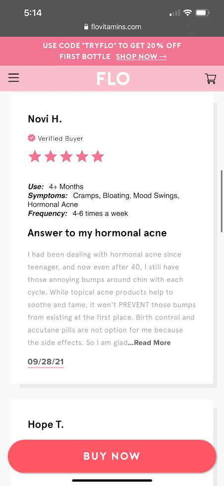 real customer reviews flo gummies 5