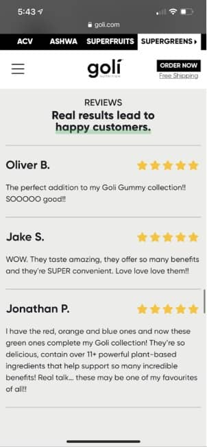 true goli supergreens gummies reviews 1