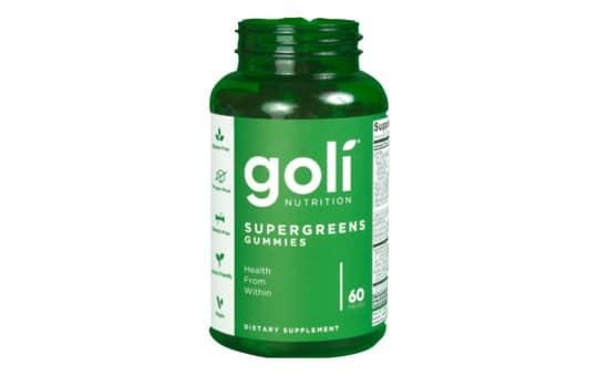goli supergreens gummies bottle