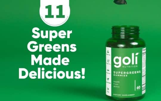 super greens gummy by goli nutrition