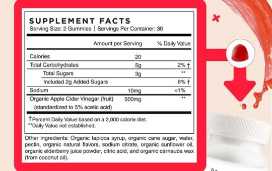 supplement facts future kind acv