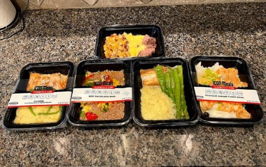 icon meals on counter in kitchen (verified delivery)